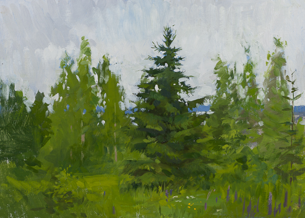Landscape painting of the June Gloom, Tällberg.