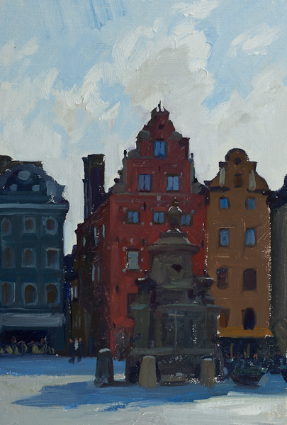 Painting of the Stortorget, Stockholm