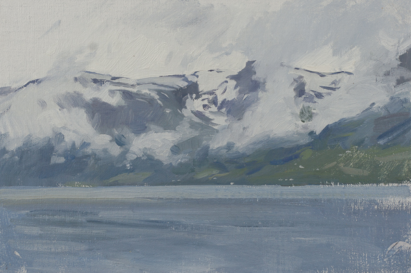 Oil painting of Hardanger Fjord, Norway
