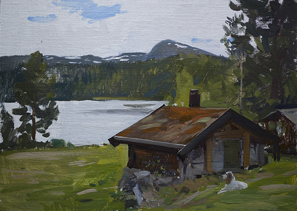Mikki at the Cabin - Telemark Sketches