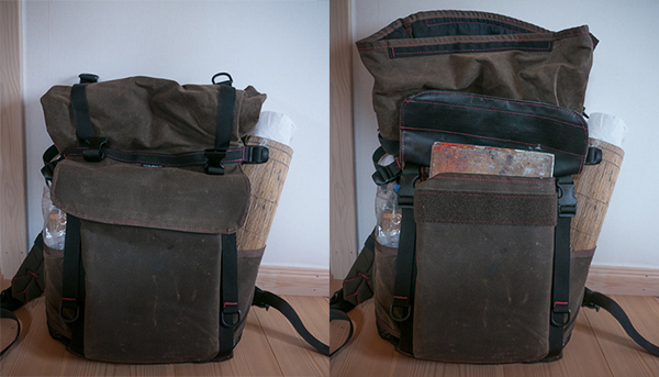 Reload bag for plein air landscape painting.
