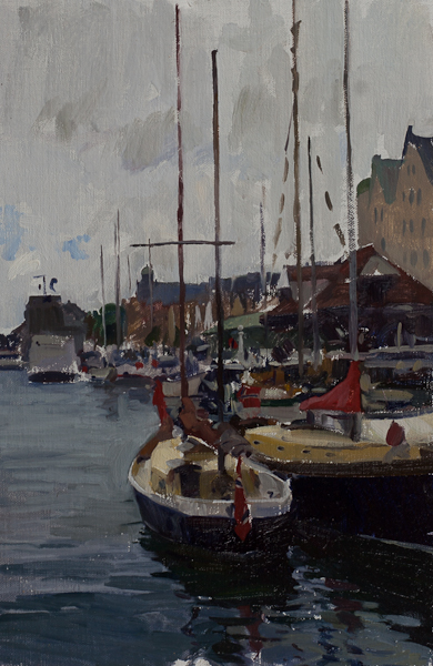 sailboats at bergen Telemark Sketches