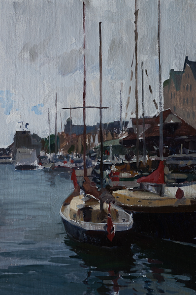 Sailboats in Bergen - Telemark Sketches