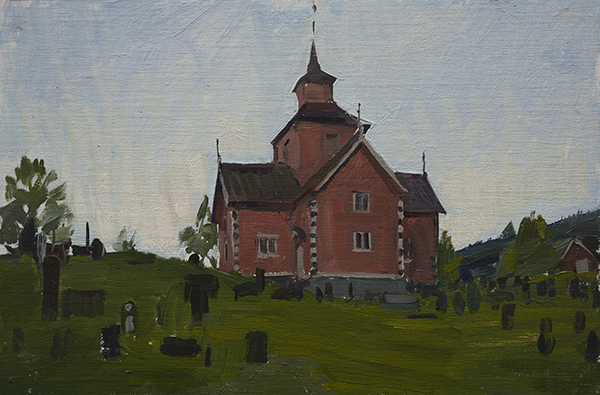 The Church at Vinje - Telemark Sketches