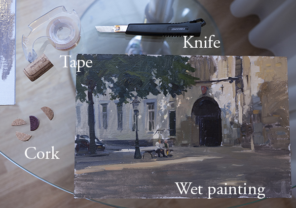 traveling with wet paintings