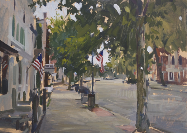 main street 1 Sag Harbor Paintings and My Grenning Gallery Solo Show