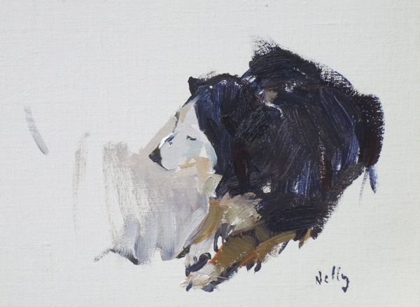 Nelly. 18 x 25 cm, oil on linen.