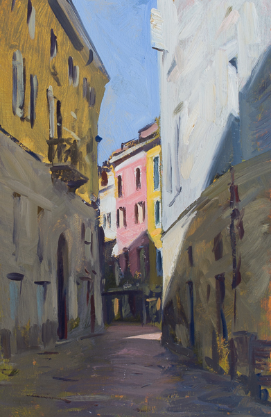 Plein air painting of Varese, Italy.