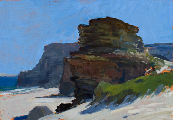 Plein air landscape painting of Diaz Beach at the Cape of Good Hope.