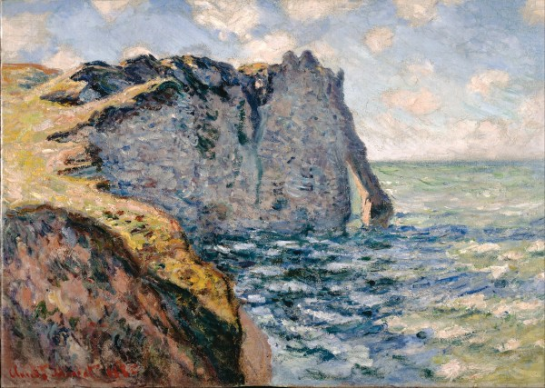 Claude Monet   The Cliff of Aval Etrétat   Google Art Project 600x427 Backlit Tuscany