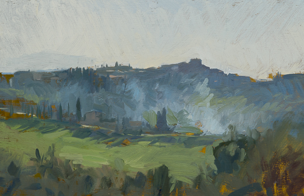 Plein air sketch of Montisi.