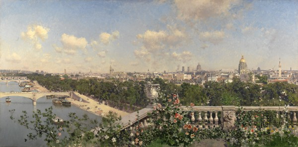 Martín Rico y Ortega - View of Paris from the Trocadero.
