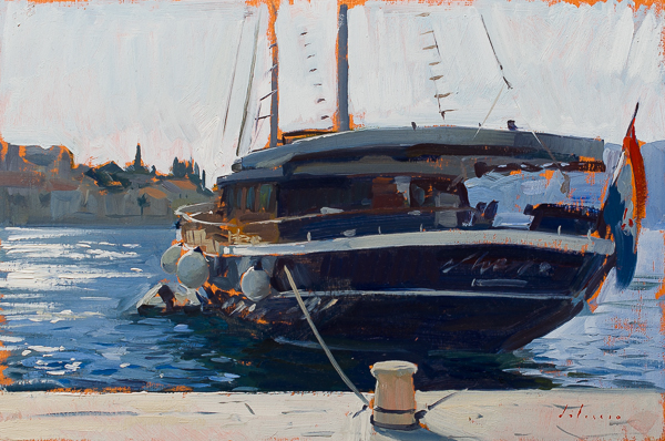 painting of the aurum, croatia