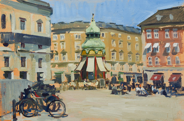 Plein air landscape painting from Copenhagen.