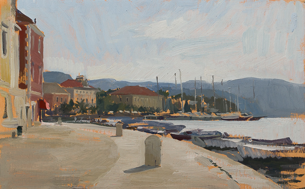 Stari Grad. 20 x 30 cm, oil on panel.