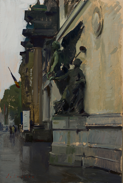Plein air sketch of the Musée Fin-de-Siècle in Brussels, Belgium.