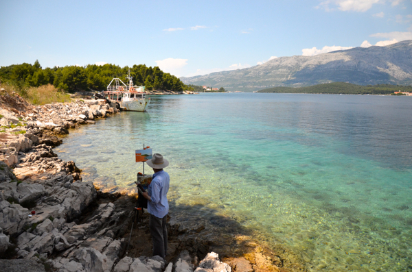 Landscape painting on Korcula.