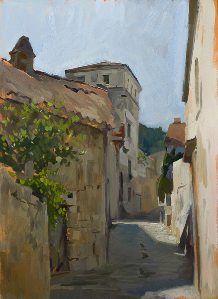 Plein air painting on Vis, Croatia.