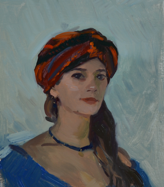 girl with turban Turban Portrait