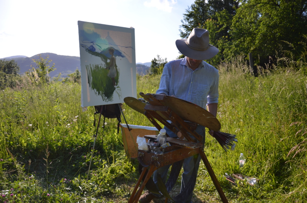 Plein air painting in the mountains above Samobor.