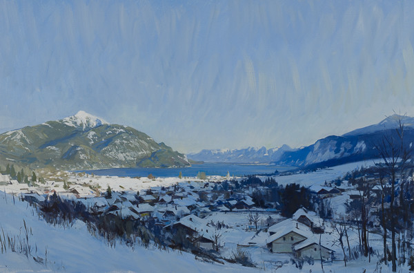 Oil painting of St. Gilgen, Austria.