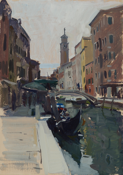 Rio di San Barnaba painting by Marc Dalessio