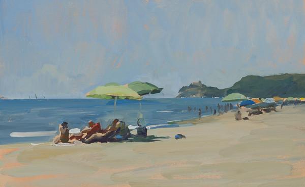 Dipinto della spiaggia a Roccamare.