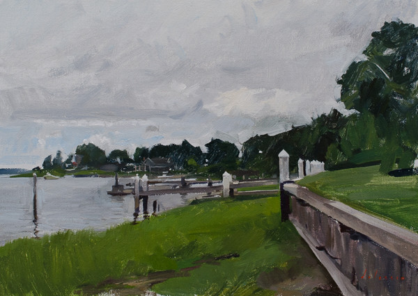 Painting of Bay Point, Sag Harbor, Long Island.