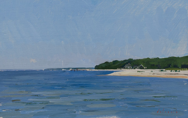 Plein air painting of North Haven.