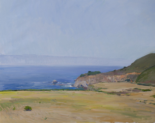 Plein air landscape painting of Big Sur, California.