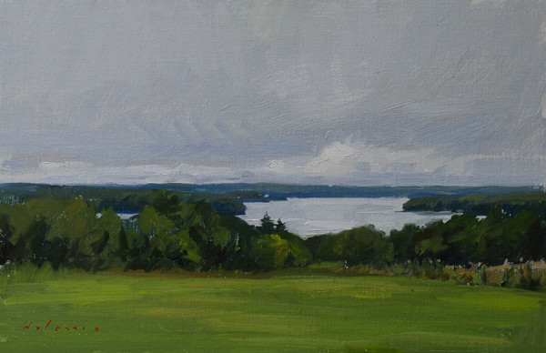 Plein air painting from outside of Waldoboro, Maine.
