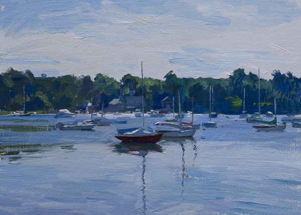Painting of Quissett Harbor, Cape Cod.