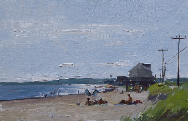 Painting of Surf Drive Beach in Falmouth, Cape Cod.