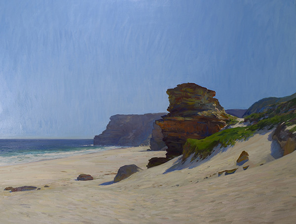 Landscape painting in oils of Diaz Beach at the Cape of Good Hope in South Africa by Marc Dalessio