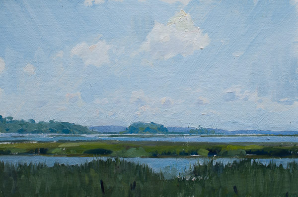 Plein air painting of Elliot's Point on the Toogoodoo.