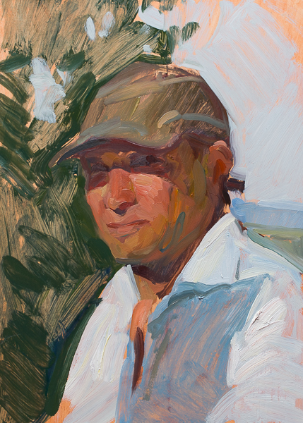 Plein air self portrait.