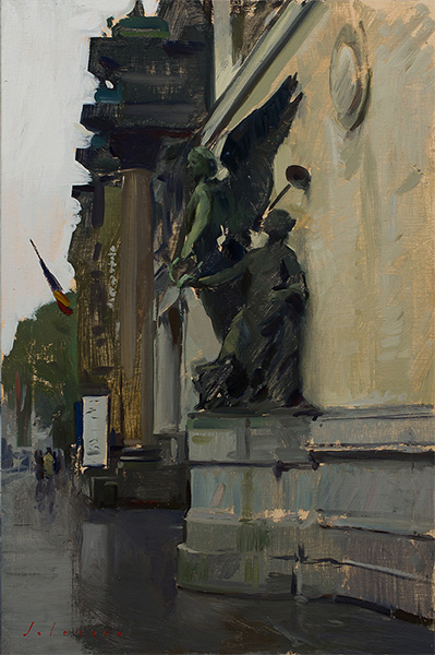 Plein air painting of the Fin-de-Siècle Museum in Brussels.