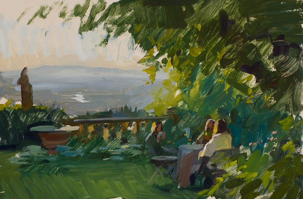 Plein air painting of an afternoon at Vicchio di Rimaggio.
