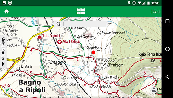 Image of Kompass's topographical maps for Android.