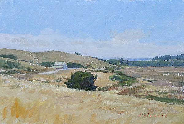 Plein air landscape painting of Palo Corona Regional Park, Carmel, CA.