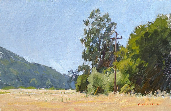 Plein air oil painting of Garland Park in Carmel Valley.